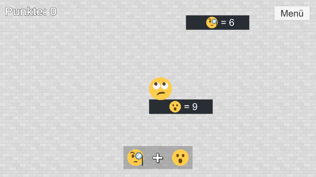 """Screenshot Android-Spiel """"Hüpfer merk's dir"""""""